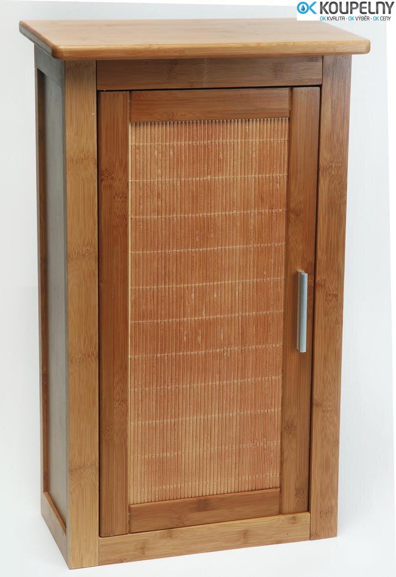 Koupelnová Závěsná Skříňka Bambus